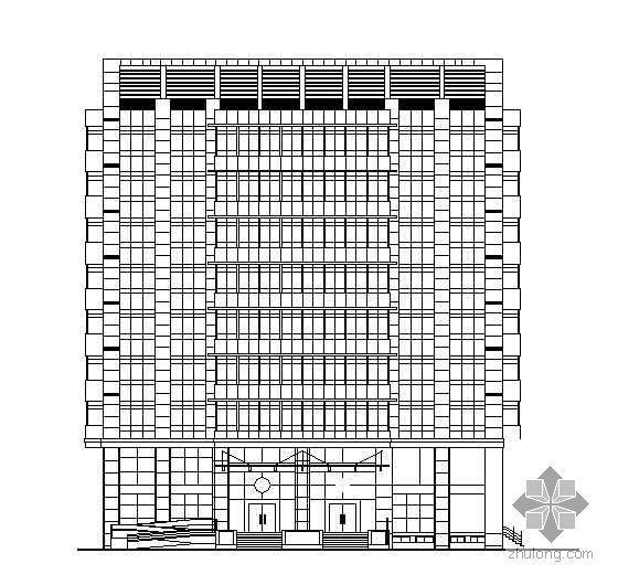 [嘉兴市]某公司九层总部大厦建筑设计方案(有效果图)