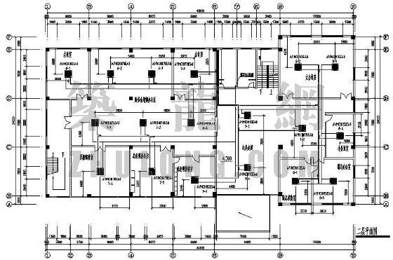 VRV空调设计图资料下载-南京某办公室VRV空调设计图