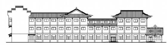 [扬州市]某三层干休所建筑方案图