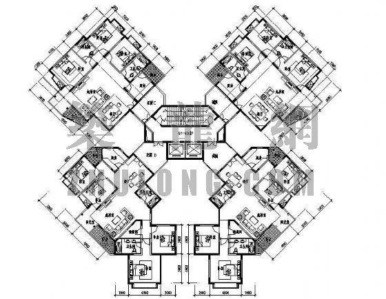 某住宅户型平面图