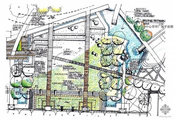 青岛小区景观手绘扩初方案文本
