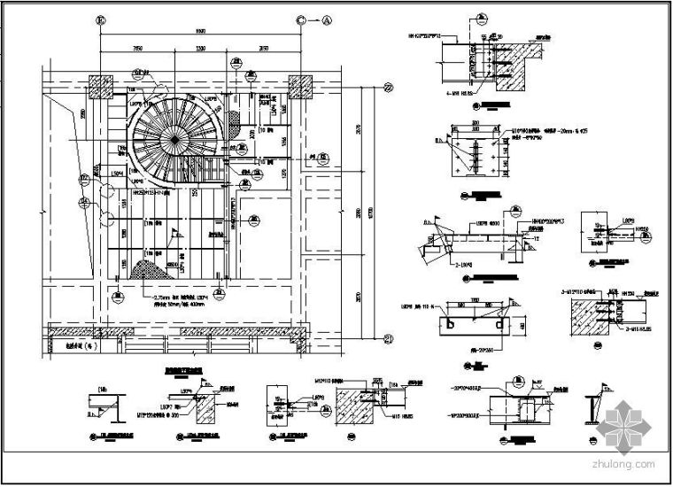 某钢结构楼梯设计图