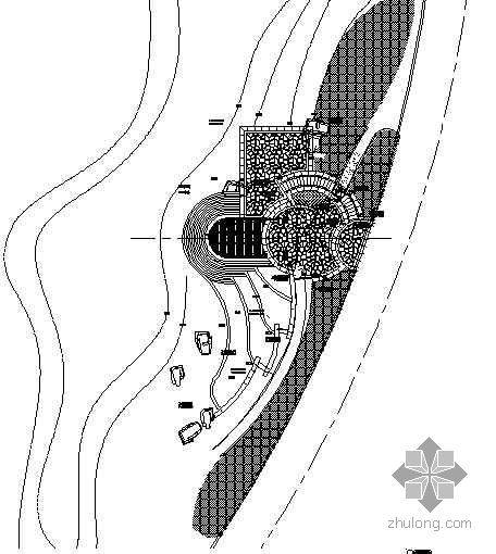 北京某别墅区滨水广场施工图
