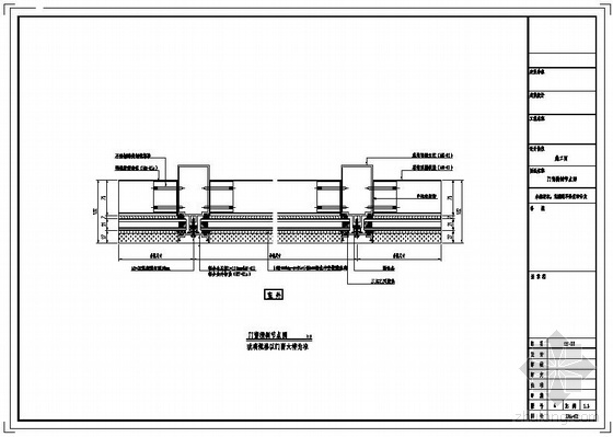 某欧式综合楼明框幕墙节点构造详图