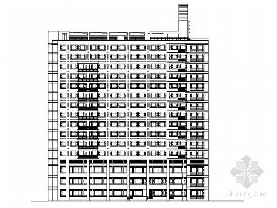 [上海]某知名医院十六层住院楼建筑施工图
