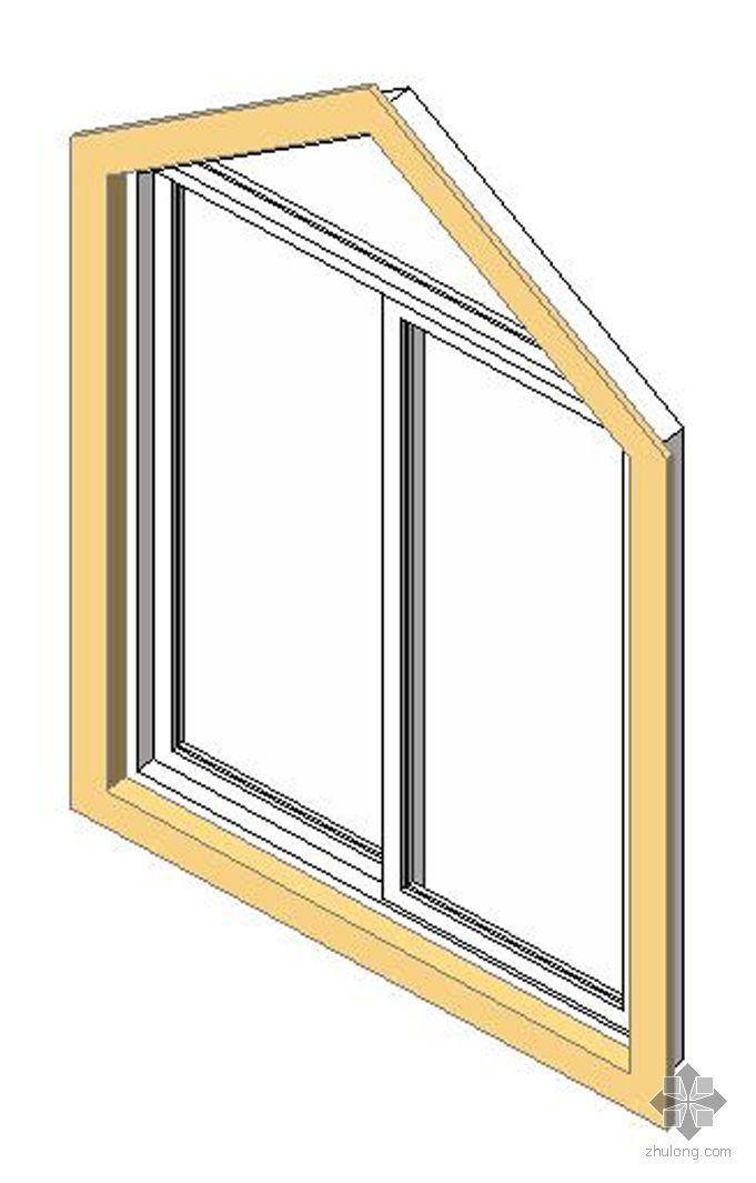 1双扇推拉窗(三角亮子)