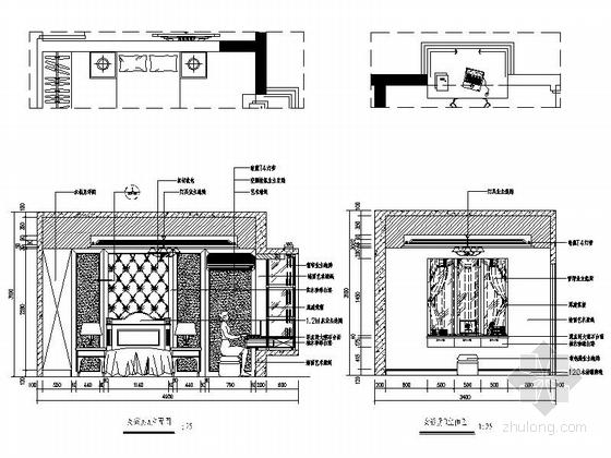 [深圳]195平经典豪华欧式五居室样板间装修设计施工图女孩房立面图