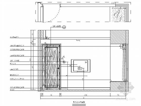 [广东]独特简欧风格四居室样板间装修施工图(含效果及实景)男孩房立面图