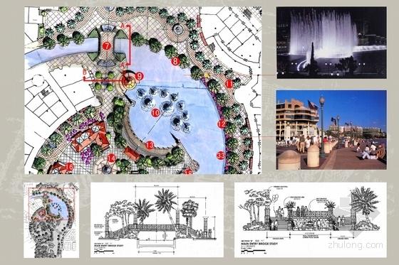 [广东]主题购物中心景观设计方案(超详细、全面)-平面大样图