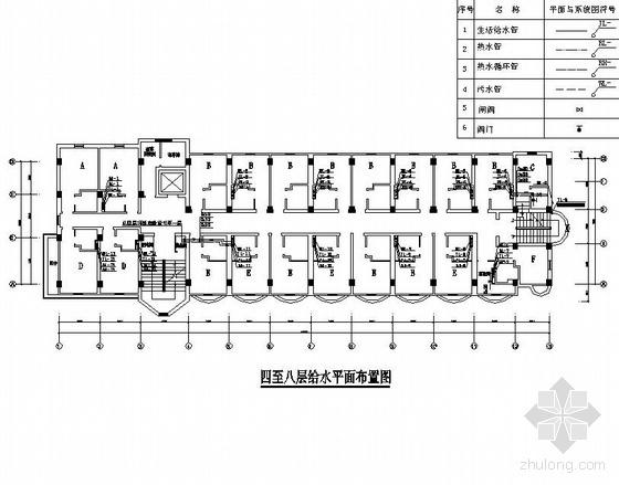 贵阳市某九层带加层酒店给排水图纸