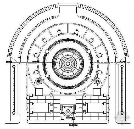 入口广场排水平面图