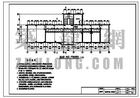 办公楼改造结构图(加一层并加坡屋顶)
