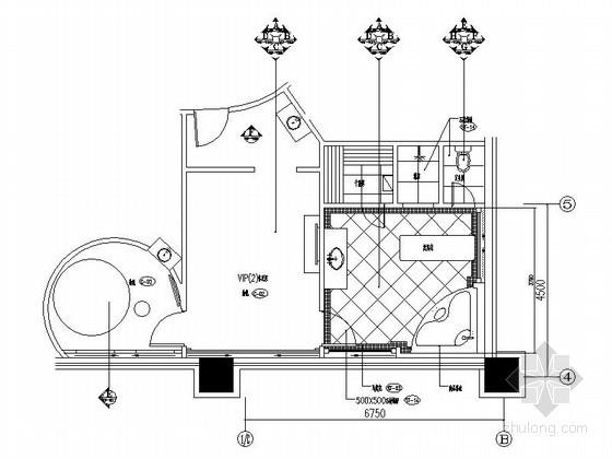 酒店桑拿SPA室装修施工图