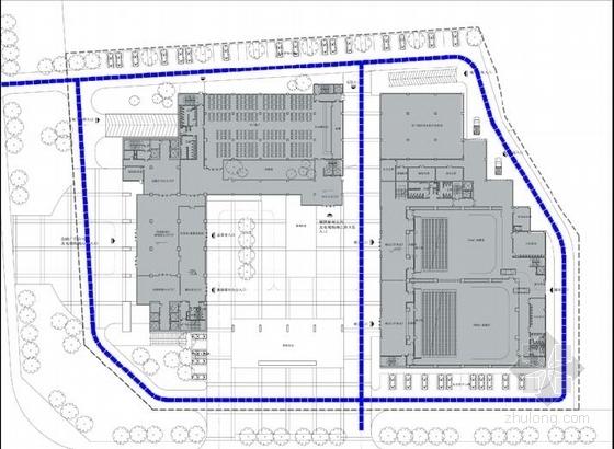 [合肥]大跨度空间广告及电视购物办公综合体建筑设计方案文本(含CAD)-大跨度空间广告及电视购物办公综合体建筑分析图