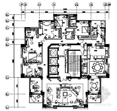 [上海]某公寓住宅电气图纸