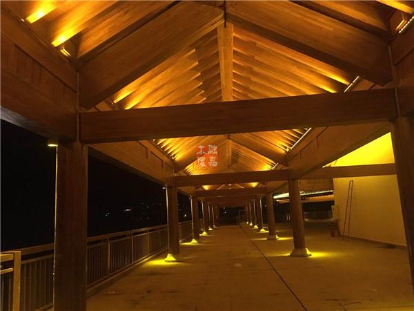 重庆云阳四方井公园梁柱型木结构建筑盛装亮相!
