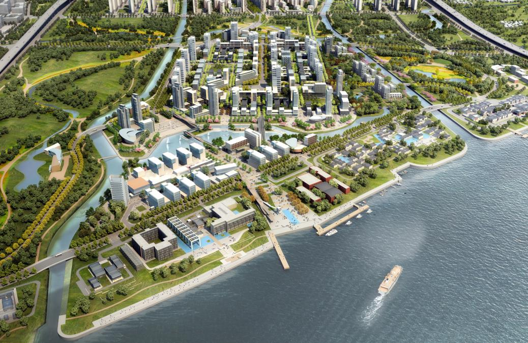 aecom三林滨江南片区域城市设计最终版规划设计方案 鸟瞰图四