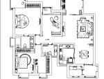 品味—执着主题三居室样板房设计施工图(附效果图)