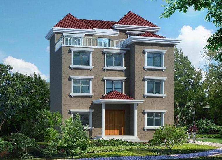 四层新农村单家独院式别墅设计(砖混结构)