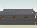 中式古建四合院模型su模型