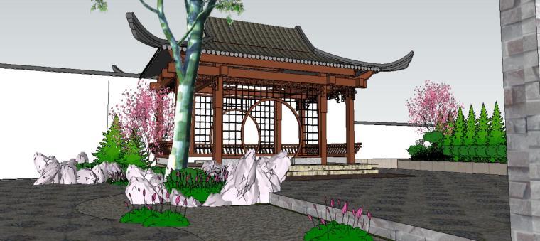 座凳•座椅,景墙•围墙,水景庭院设计su模型_9