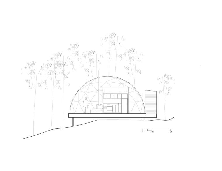 加拿大树林里的球状帐篷旅馆-13