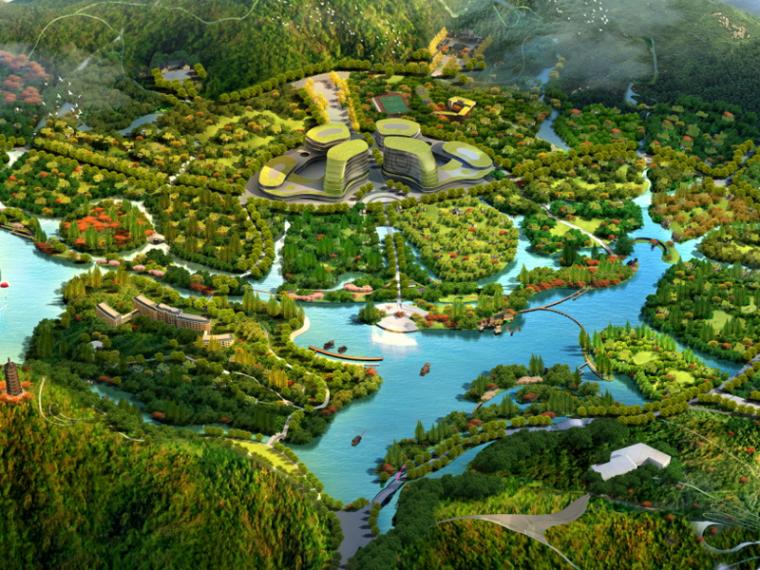 [江西]红豆杉生态风情小镇(度假,休闲)A-1 鸟瞰图