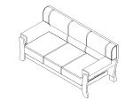 bim软件应用-族文件-沙发三人