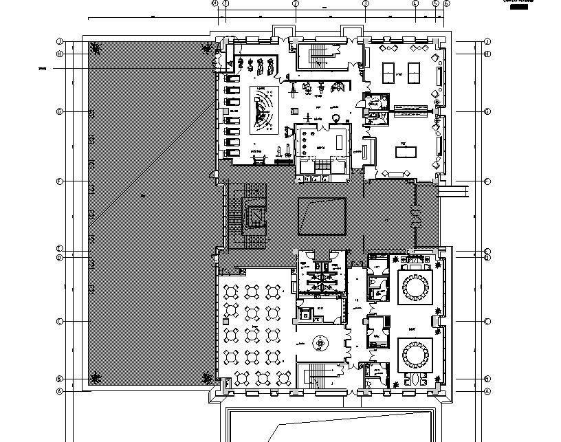 现代私人会所空间设计施工图(附效果图 物料清单 机电施工图)图片