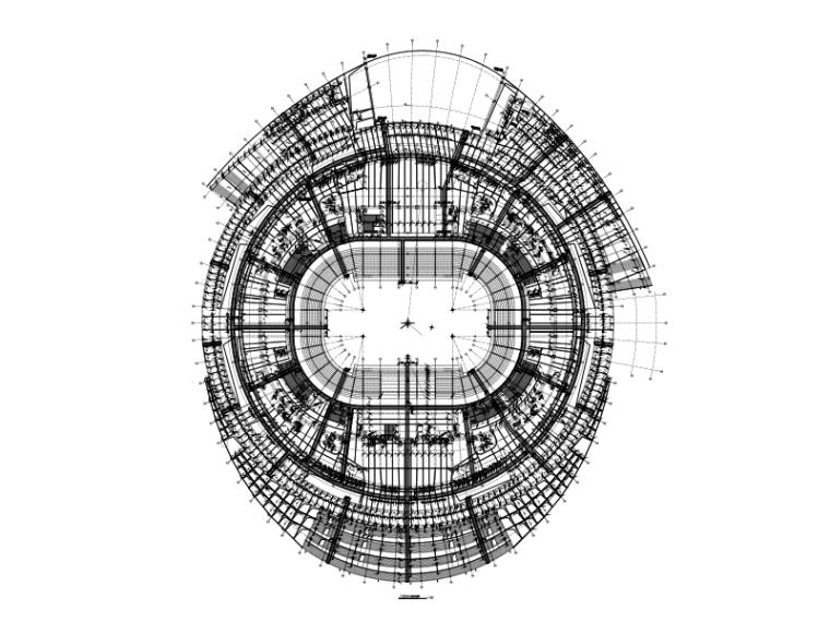 6层框剪结构特大型体育馆建筑结构施工图