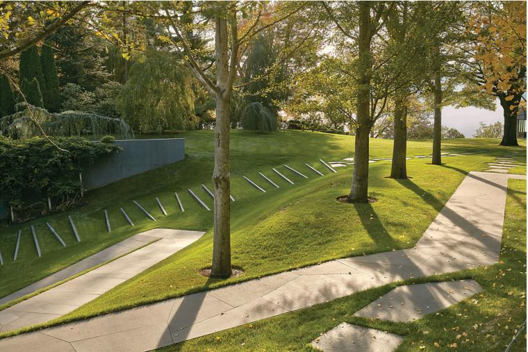 美国抽象形态的住宅景观-4