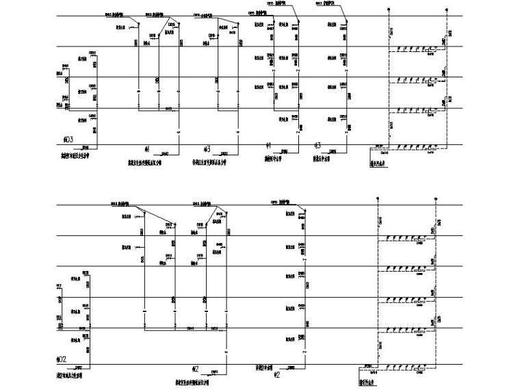 厦门大学翔安校区主楼群(1245#楼)初步设计文件(给排水工程)-4#楼给排水系统原理图