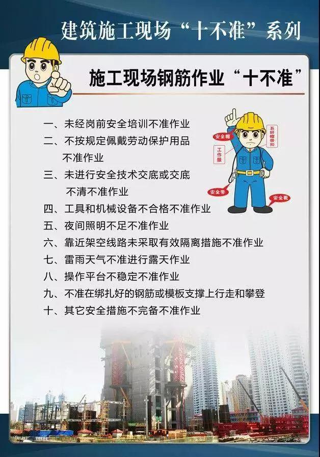 """建筑施工現場""""十不準""""系列掛圖!工地安全必備!_8"""