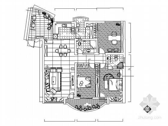 [济南]现代两居室装修施工图(含实景图)