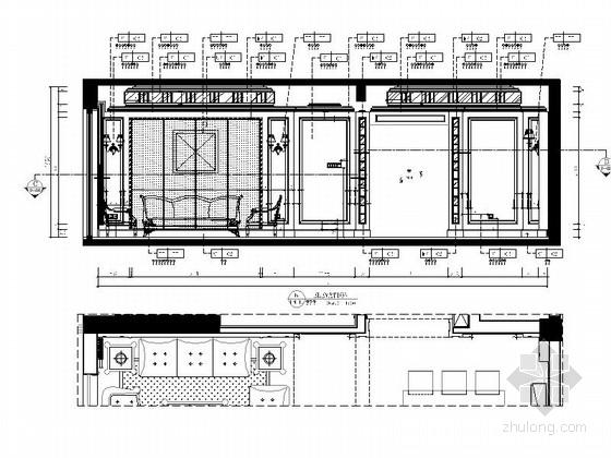 [湖北]现代欧式两居室样板间室内装修图(含效果) 立面