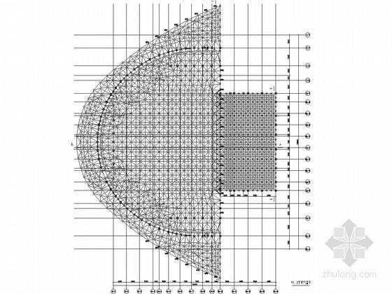 [天津]钢网架及钢结构连廊结构设计深化图