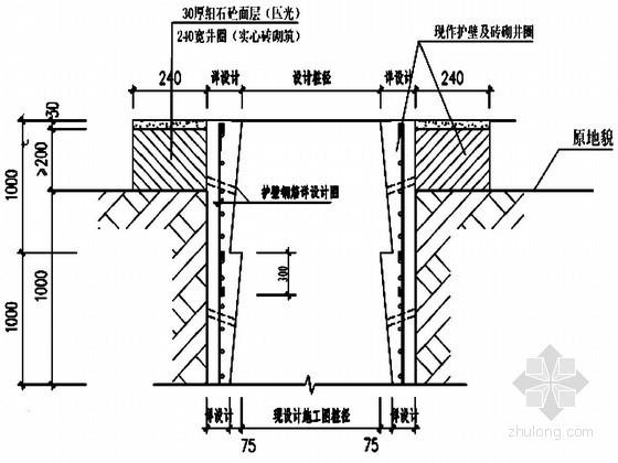 [重庆]某廉租房工程人工挖孔桩基础施工方案