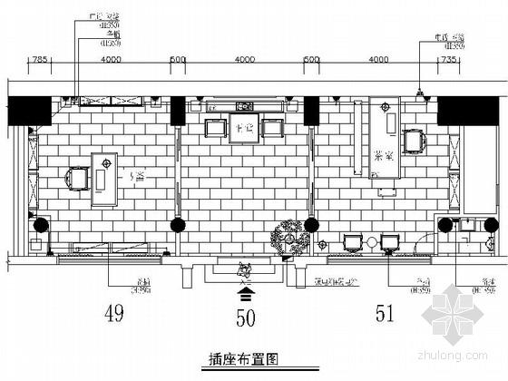 [安徽]精装典雅中式风情茶室装修施工图(含效果)