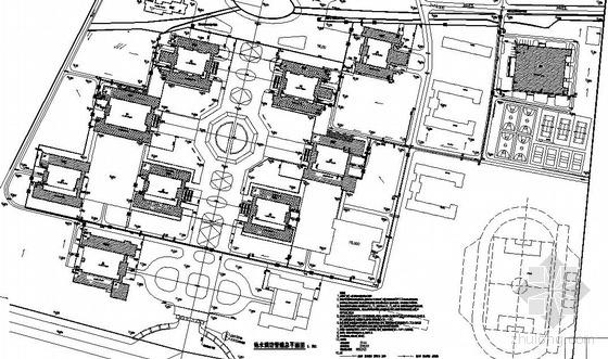 安徽池州某学院新校区给排水总图