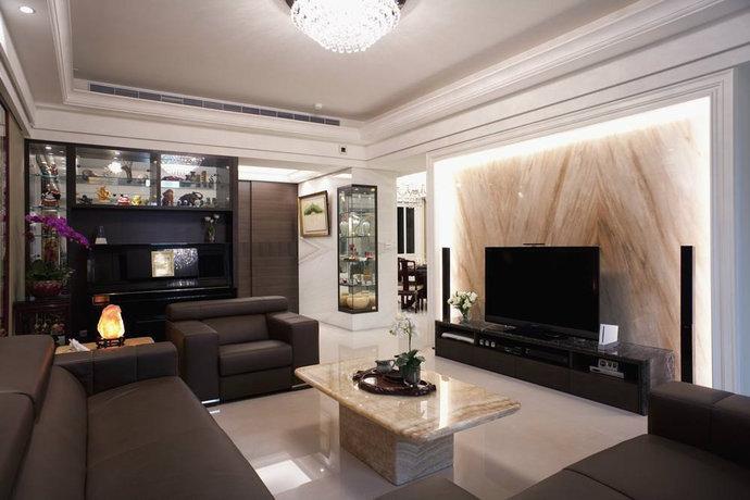 混搭新古典客厅装修风水位