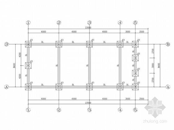 [世博会]单层门式刚架结构临时场馆结构施工图