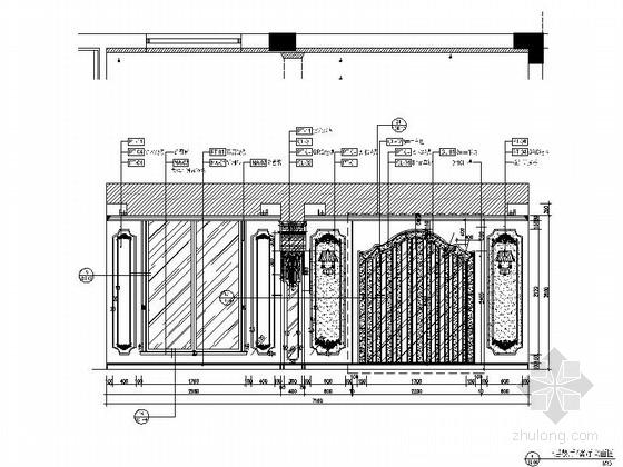 [杭州]220平方古典风格双层别墅室内装修图(含实景)餐厅立面