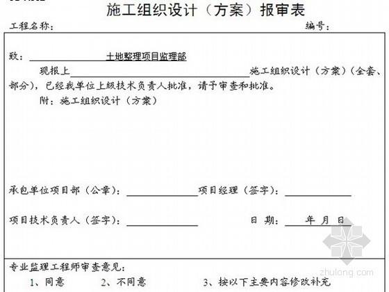 [四川]土地开发整理工程监理规范(范本 附表格)