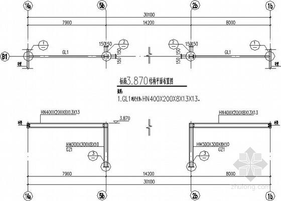 钢框架大门结构施工图(含结构计算书)