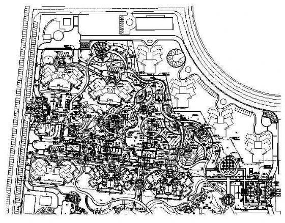 北京万科新园全套景观设计施工图-北京知名地产新园全套景观设计施工图