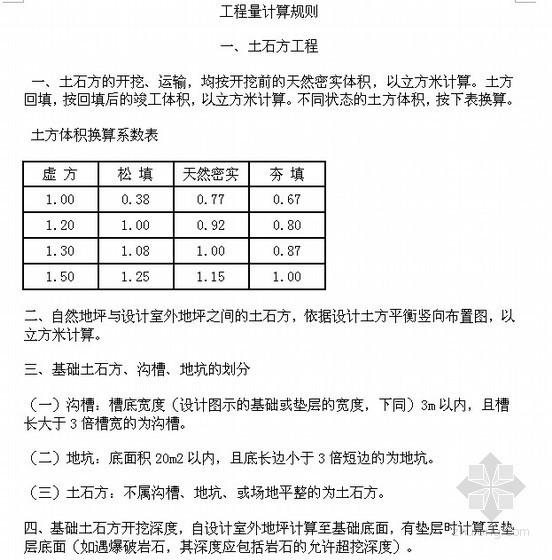 [山东]消耗量定额计算规则及详解(03版69页)