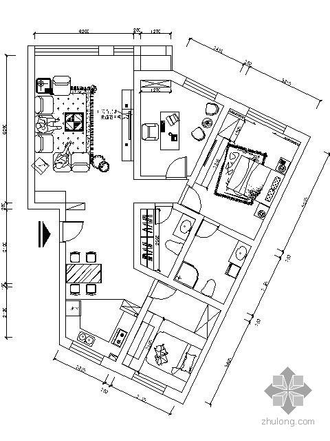 [大连]两居小户型设计方案(含效果)