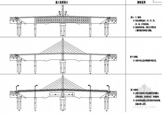U型桥台施工工艺流程资料下载-104m组合体系斜拉桥施工工艺流程示意节点详图设计