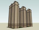 欧式住宅建筑SketchUp模型下载