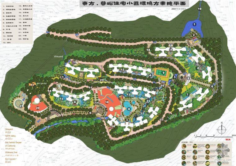 深圳小区景观设计文本全套(手绘)